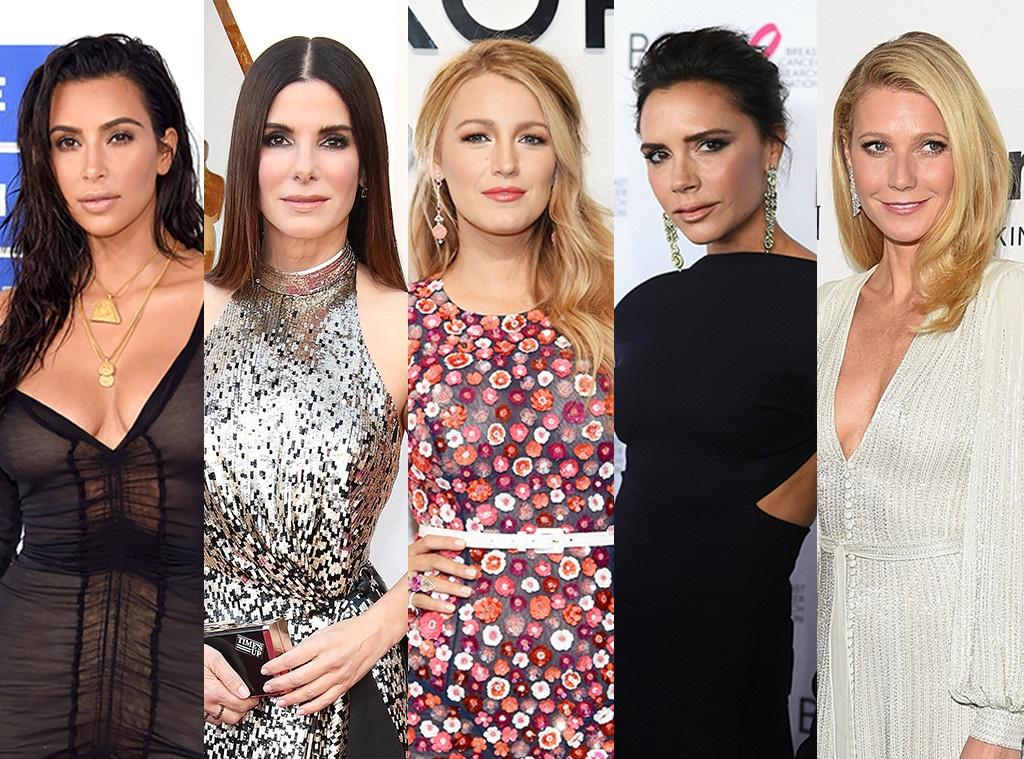 Kim Kardashian, Sandra Bullock, Blake Lively, Victoria Beckham, Gwyneth Paltrow