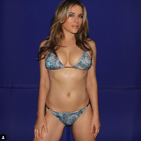 9825bf5a760 Elizabeth Hurley's Latest Bikini Pic Will Literally Make Your Jaw ...