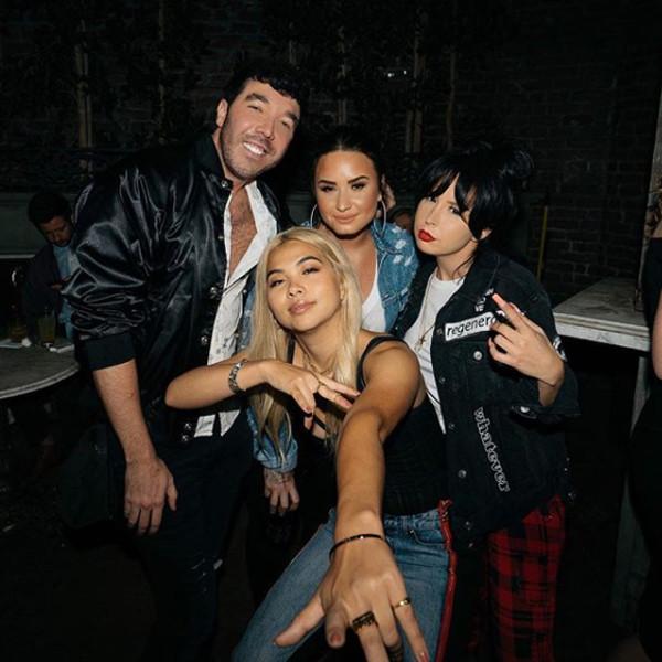 Demi Lovato, Matthew Scott Montgomery, Hayley Kiyoko
