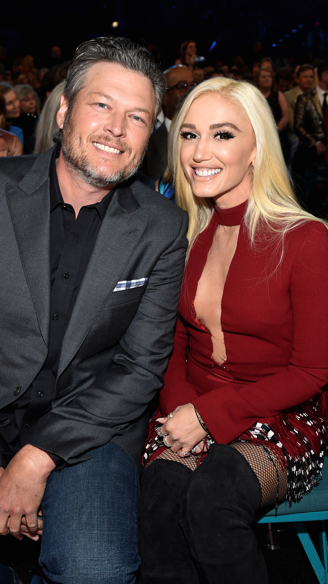 Blake Shelton with girlfriend Gwen Stefani