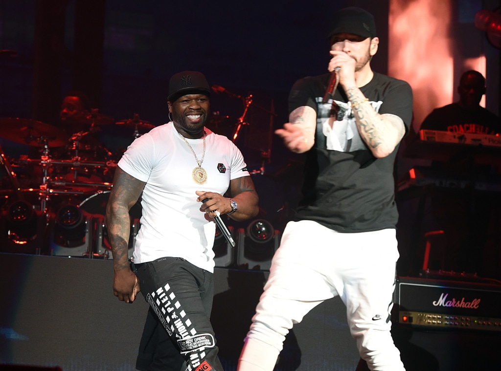 Eminem Brings Out Dr. Dre & 50 Cent at Coachella""