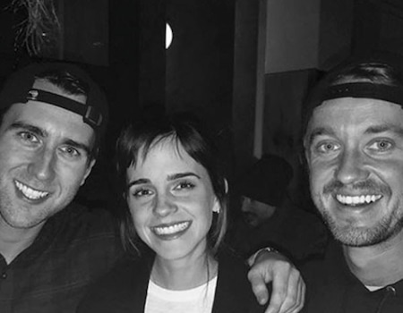 Emma Watson, Tom Felton & Matthew Lewis Reunite as Hogwarts Alumni