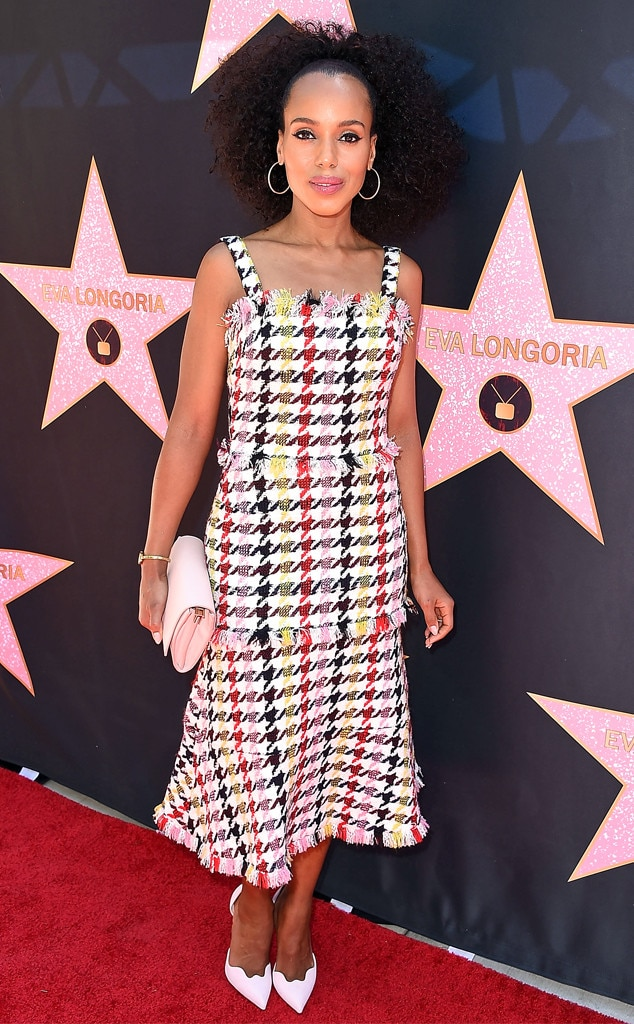 Kerry Washington, Eva Longoria's Hollywood Star Ceremony Post-Luncheon