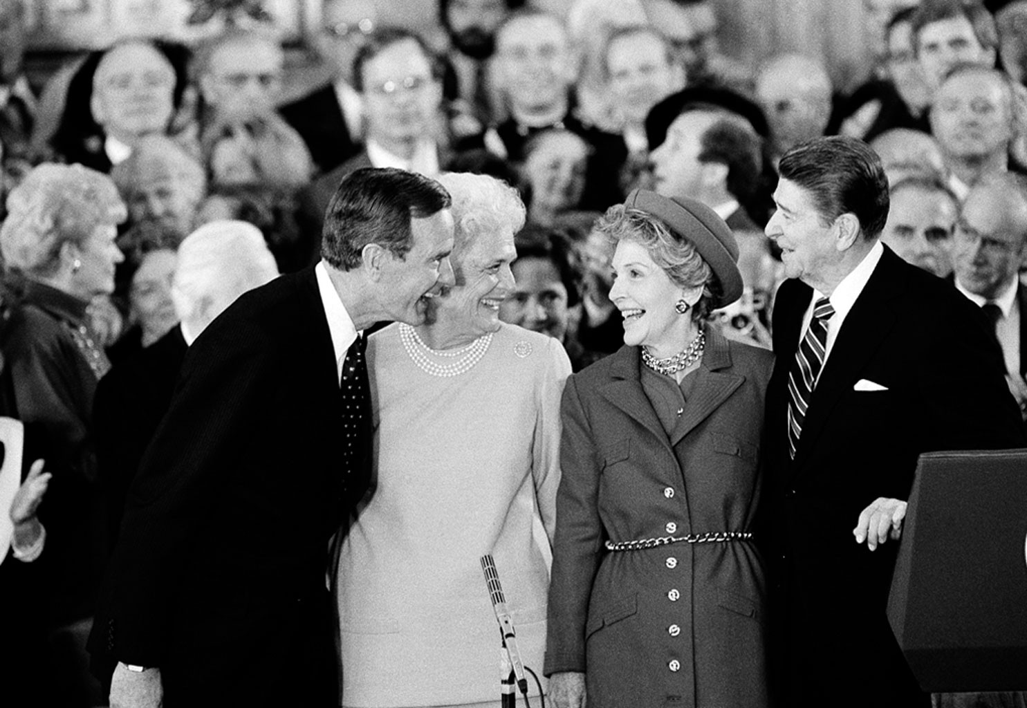 Ronald Reagan, Nancy Reagan, George H.W. Bush, Barbara Bush