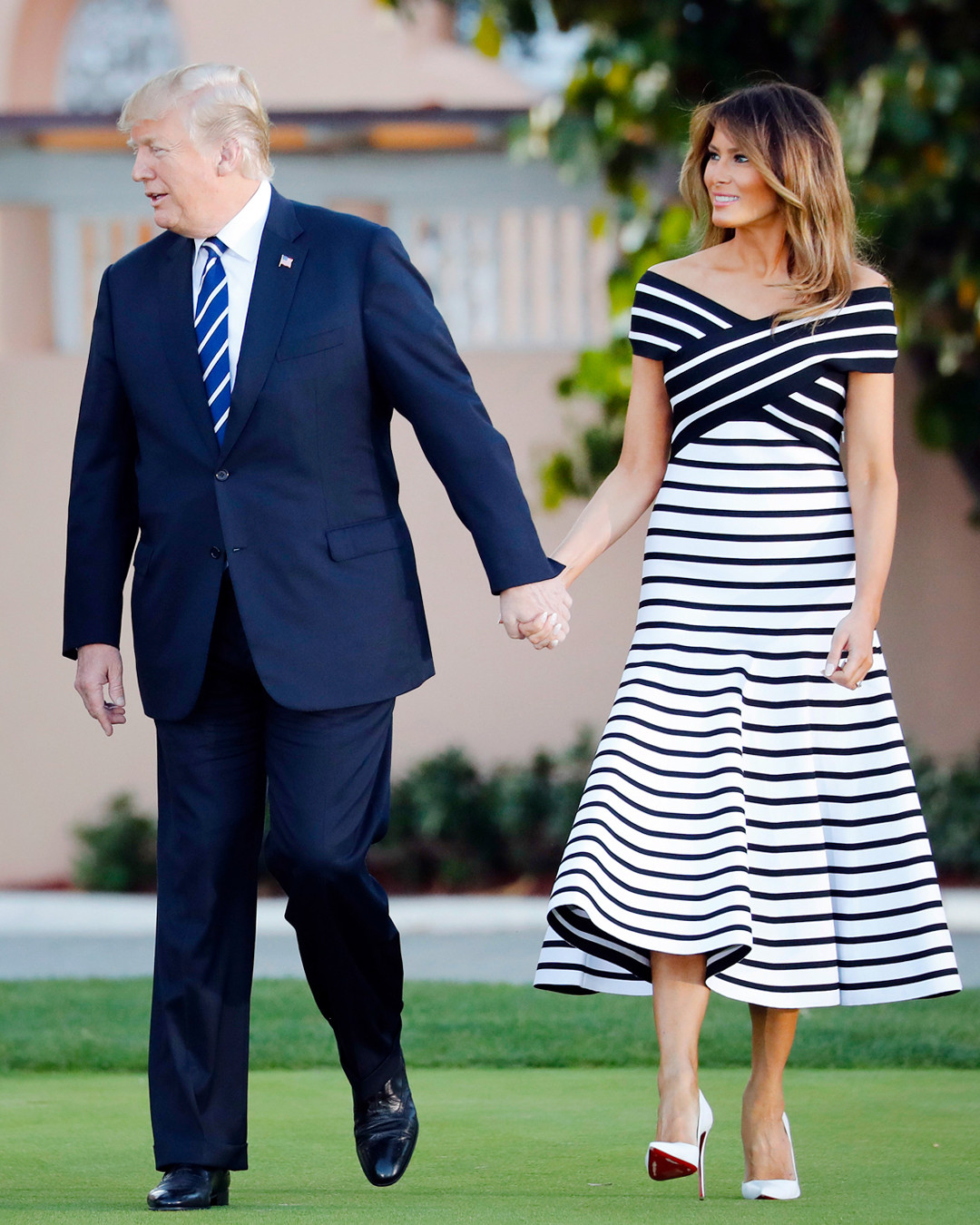 aa89850fc714 Melania and Donald Trump Match Outfits and More Celeb Couple Style ...