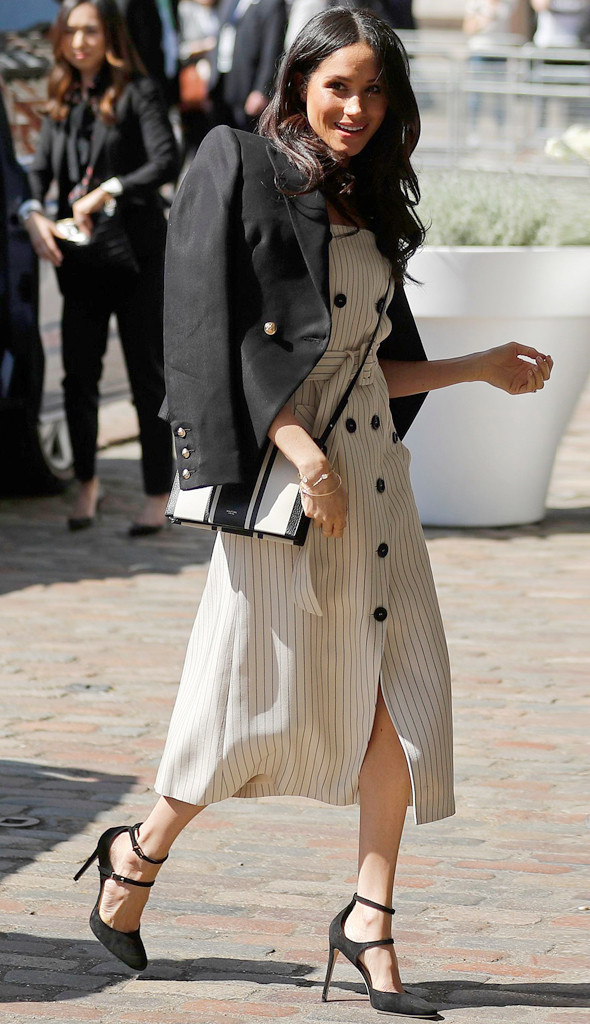 Meghan Markle Brings a Splash of Spring With New Striped Look