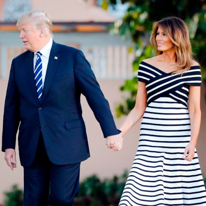 b391e4c479 Melania and Donald Trump Match Outfits and More Celeb Couple Style | E! News