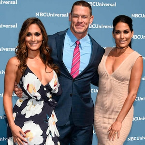 Nikki Bella, John Cena, Brie Bella, NBCUNIVERSAL 2016 UPFRONT PRESENTATION