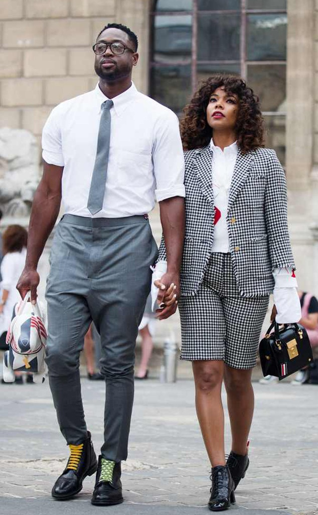 582c01299cc7 Gabrielle Union and Dwyane WAde from Celebrity Couples in Matching ...