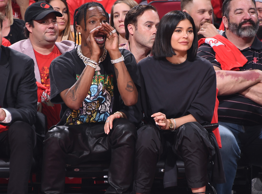Travis Scott, Kylie Jenner, Minnesota Timberwolves vs Houston Rockets Game