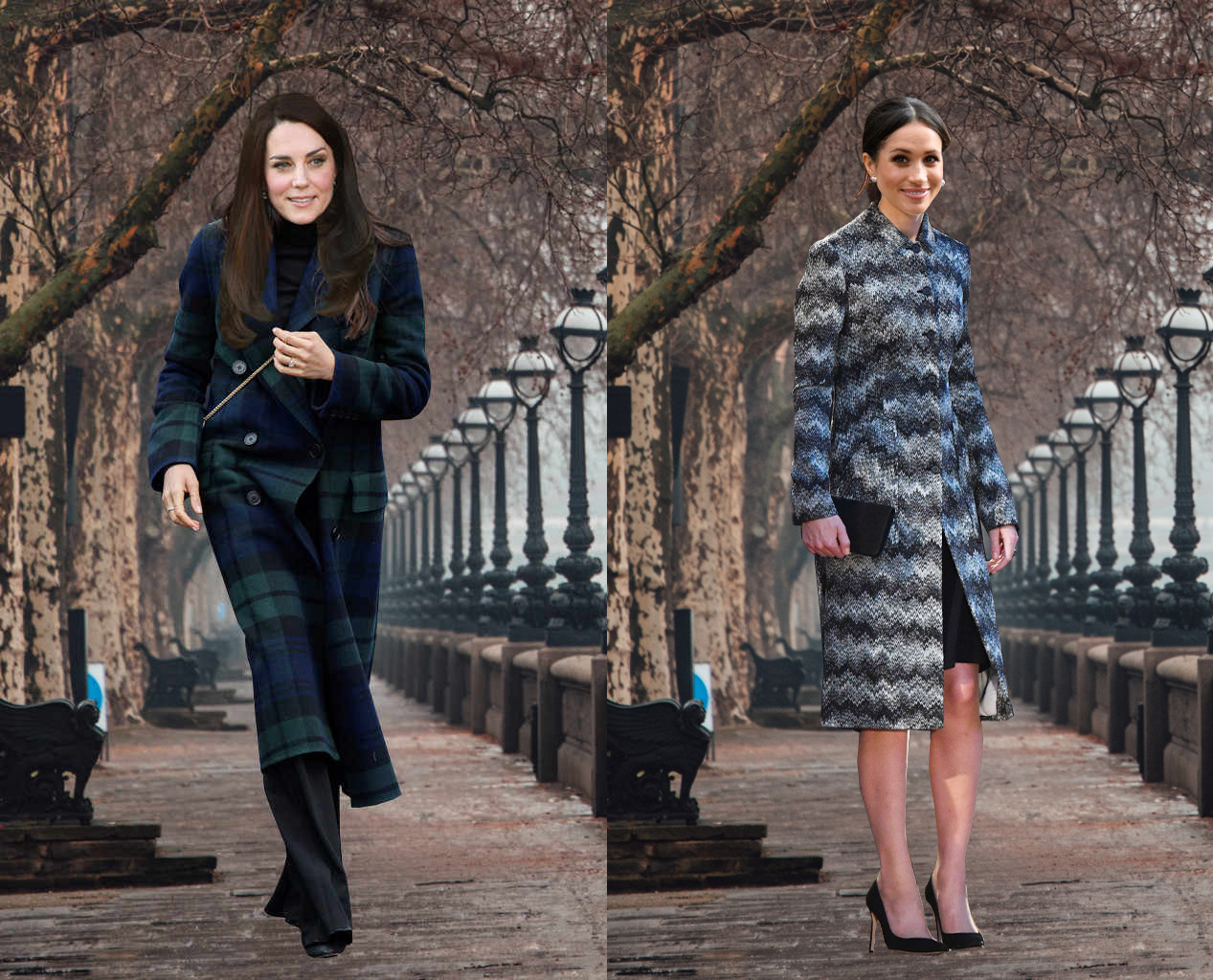 Meghan Markle, Kate Middleton, Outfit Swap, Outerwear
