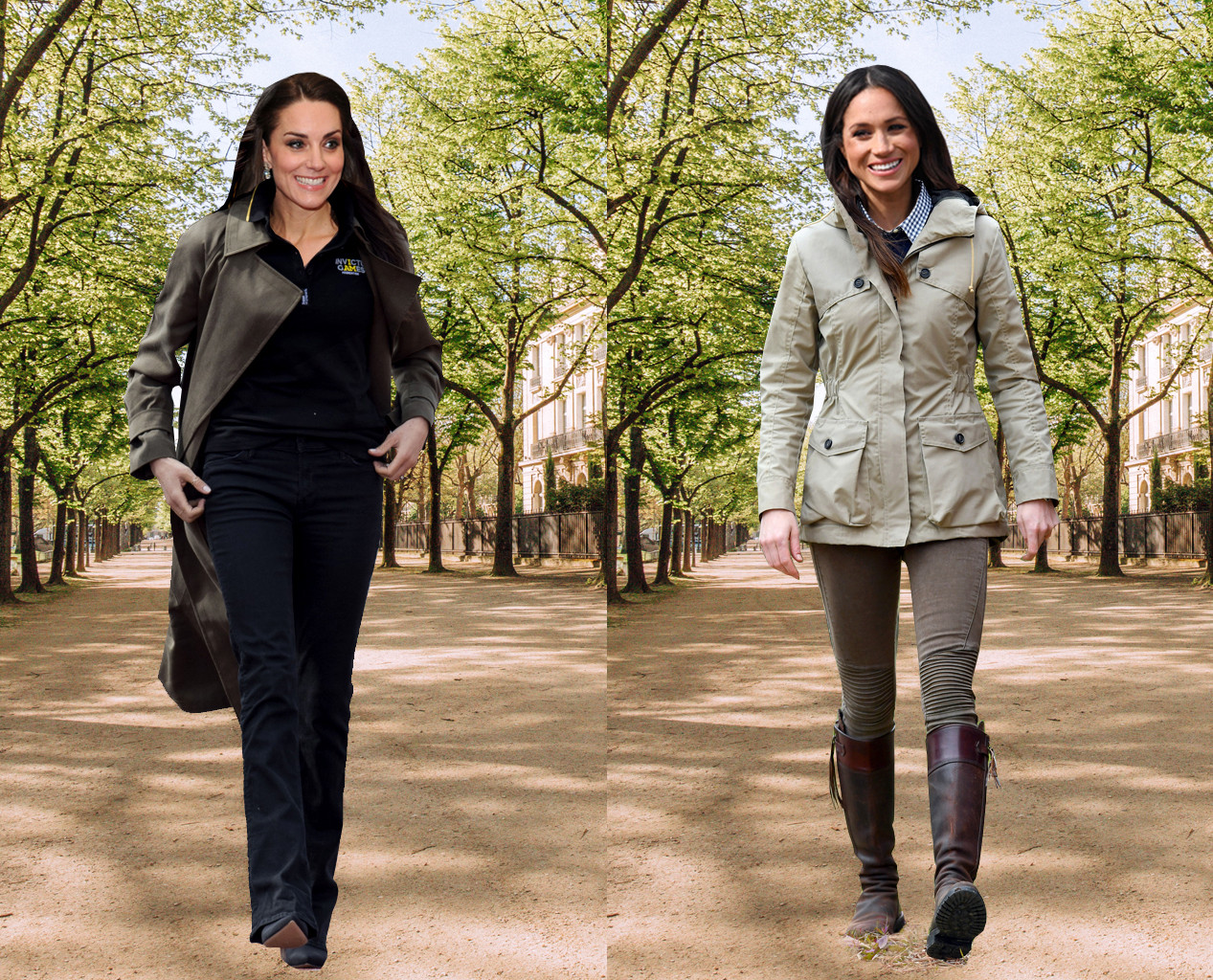 Meghan Markle, Kate Middleton, Outfit Swap, Sporty