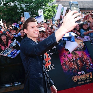 Tom Holland, Avengers: Infinity War, Shanghai
