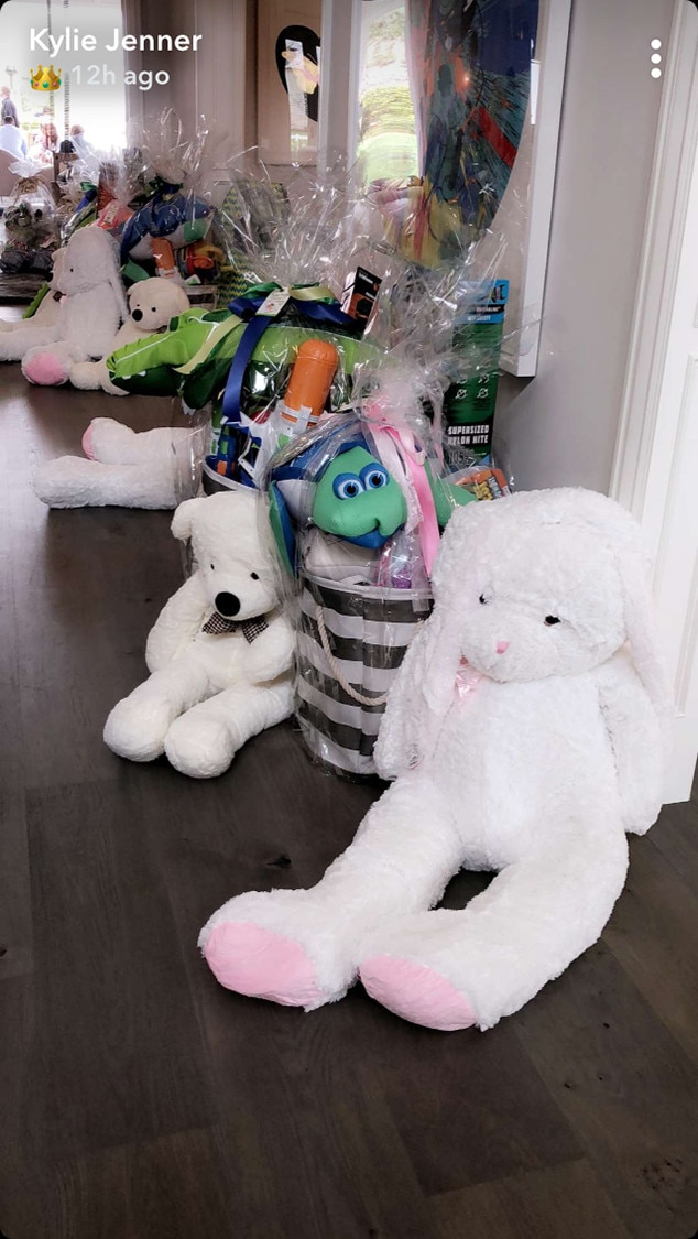 easter baskets full of goodies from inside the kardashian
