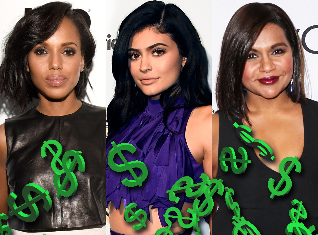 Kerry Washington, Kylie Jenner, Mindy Kaling