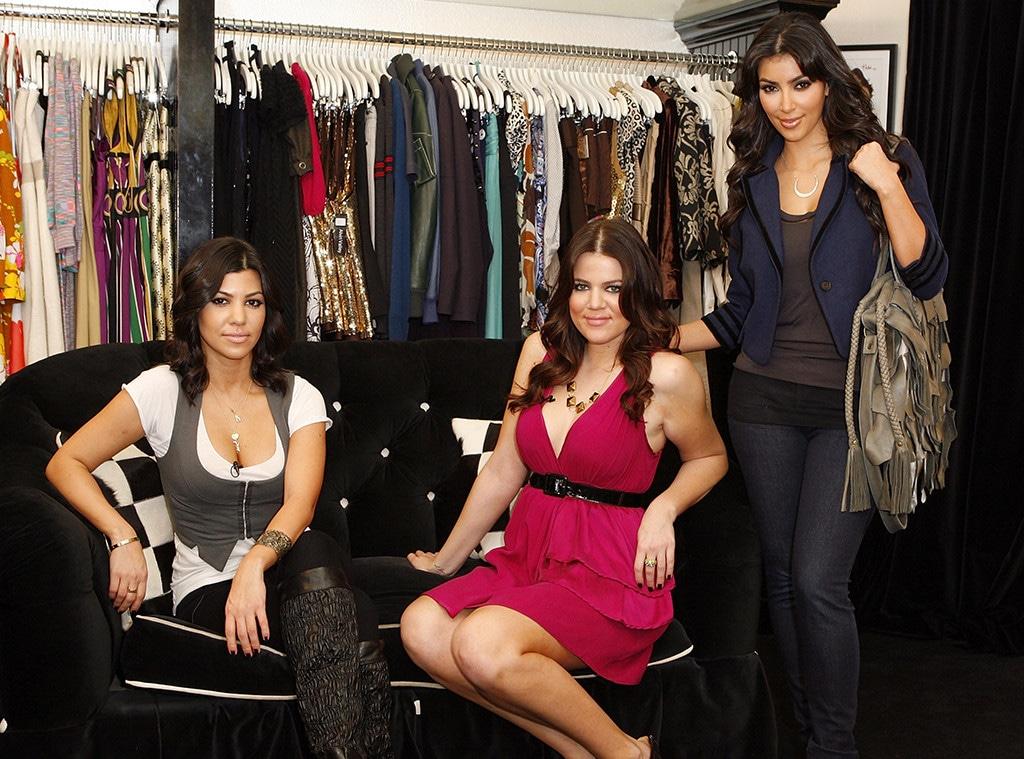 Kim Kardashian, Khloe Kardashian, Kourtney Kardashian, Dash Store, Calabasas
