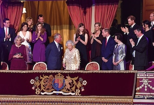 Queen Elizabeth II, Prince Charles, Prince Harry, Prince William, The Queens Birthday Party