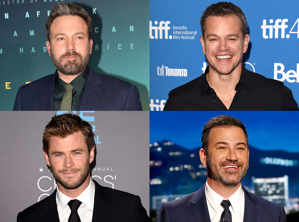 Ben Affleck, Matt Damon, Chris Hemsworth, Jimmy Kimmel