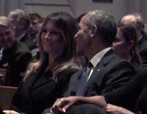 Melania Trump Sits Next To Barack Obama At Barbara Bush S