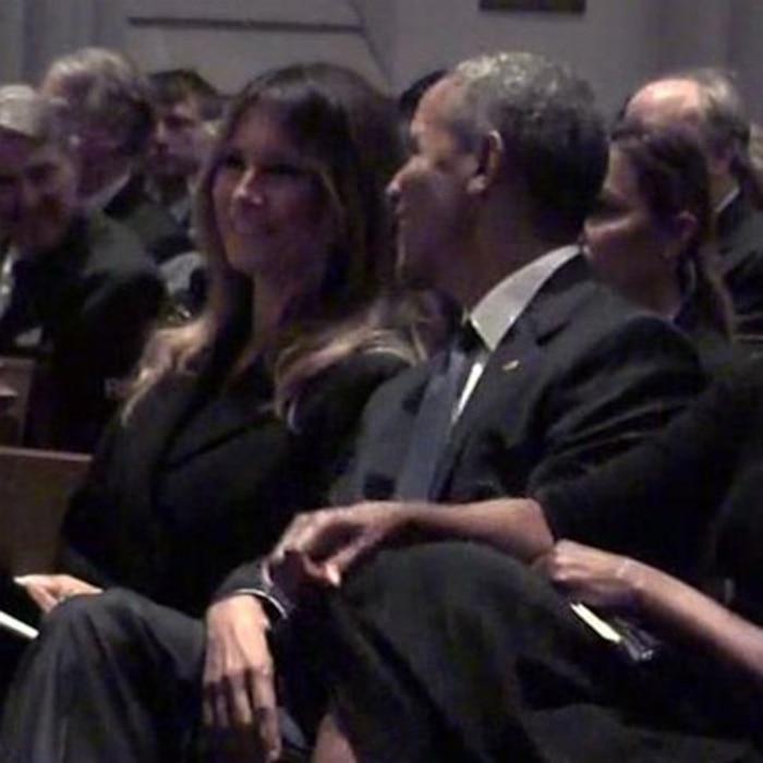 Melania Trump Sits Next To Barack Obama At Barbara Bush S Funeral