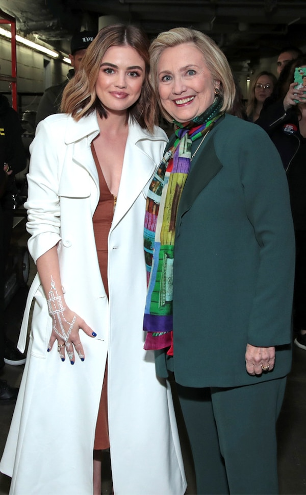 Lucy Hale & Hillary Clinton from The Big Picture: Today's Hot Photos