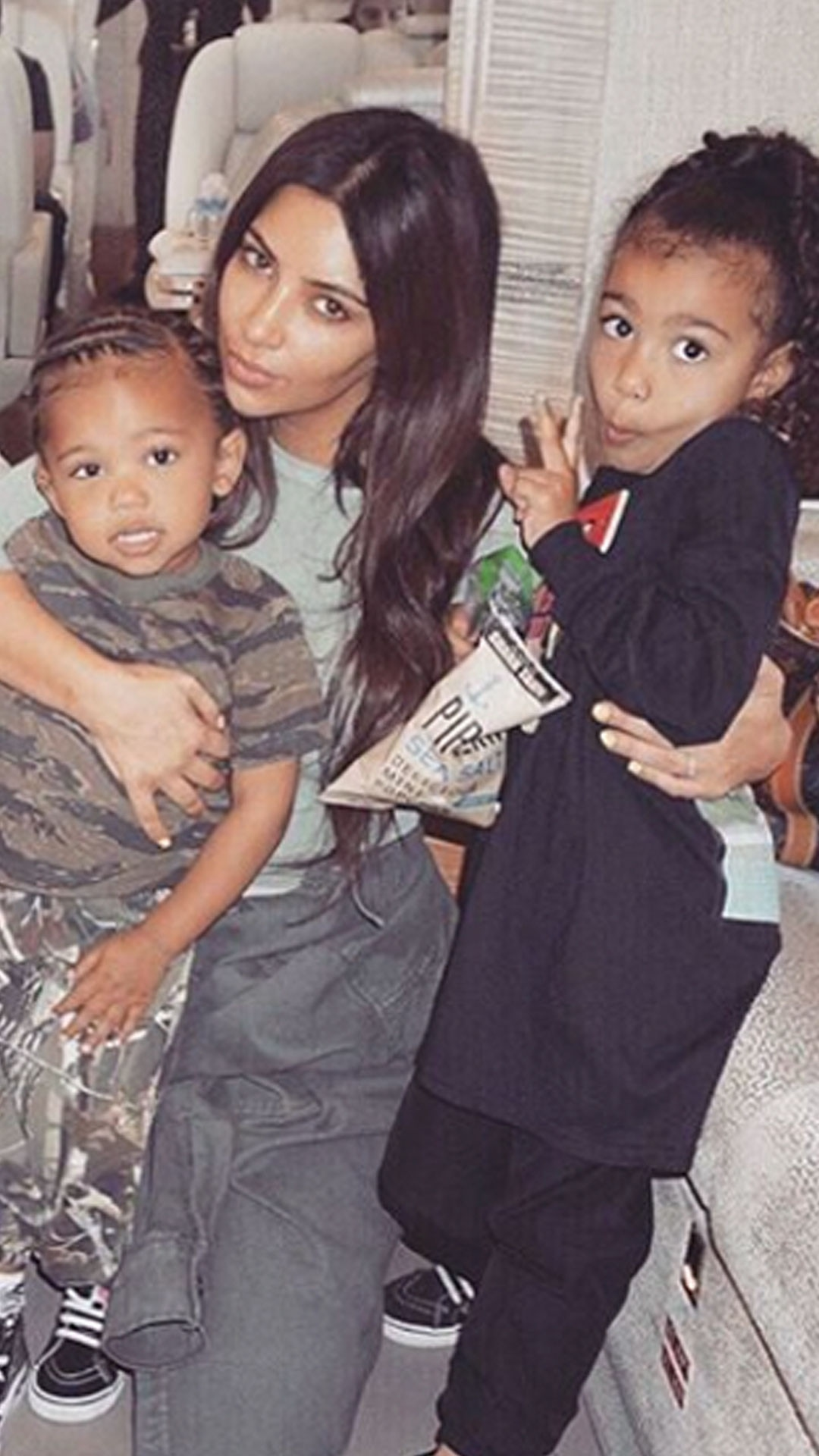 Kim Kardashian, Kanye West, Saint West, North West, Chicago West
