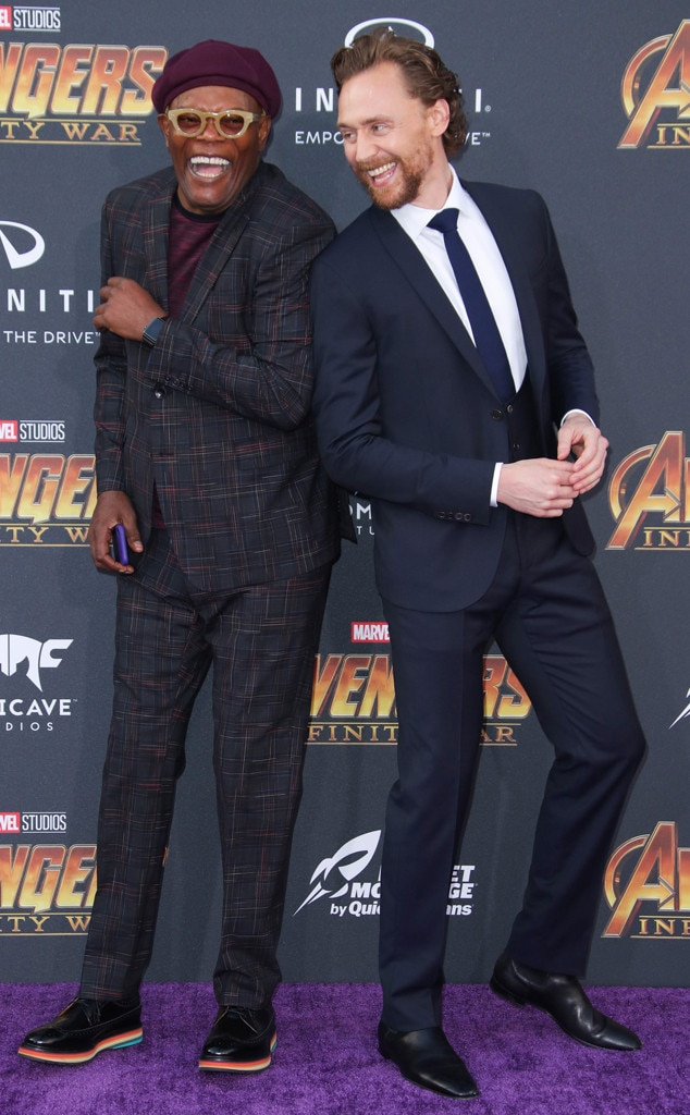 Samuel L Jackson, Tom Hiddleston, Avengers: Infinity War World Premiere