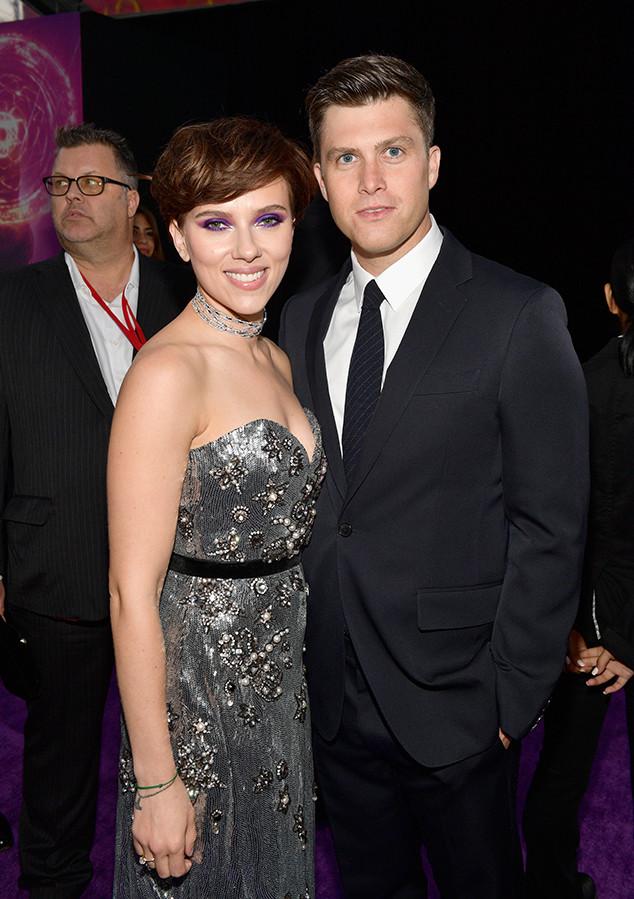 Scarlett Johansson, Colin Jost, Avengers: Infinity War Premiere