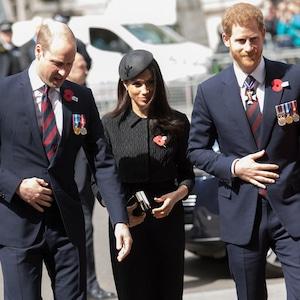 Prince William, Meghan Markle, Prince Harry, Anzac Day