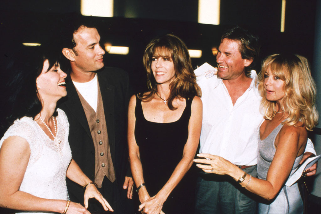 Sally Field, Tom Hanks, Rita Wilson, Kurt Russell & Goldie Hawn