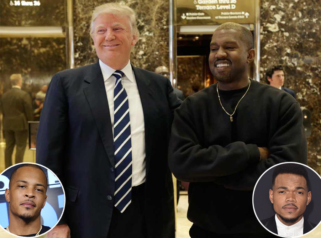 Donald Trump, Kanye West, Chance the Rapper, T.I.