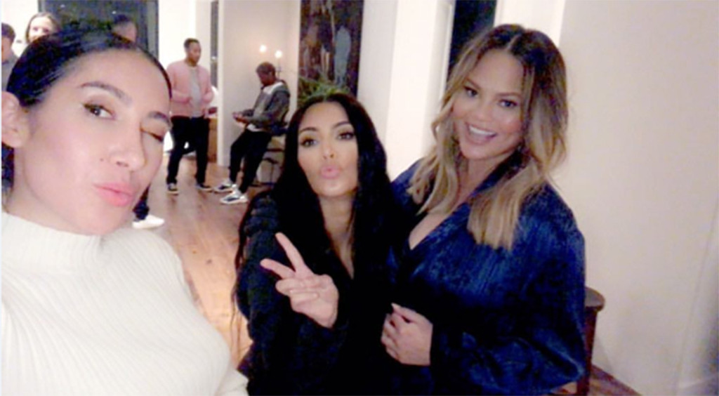 Chrissy Teigen And John Legend Celebrate At Baby Shower With Kim