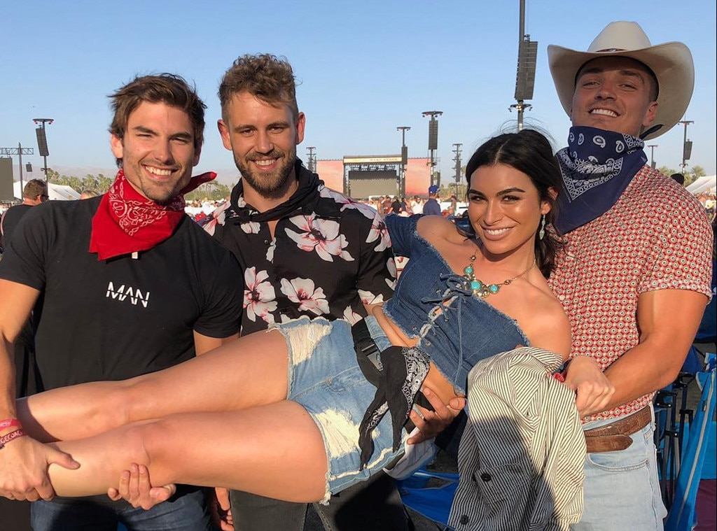 "Jared Haibon, Nick Viall, Ashley ""I"" Iaconetti & Dean Unglert -  ""A queen and her jesters,"" the  Bachelor in Paradise  star  shared  from the desert while hanging with Nick Viall, Dean Unglert and Jared Haibon."