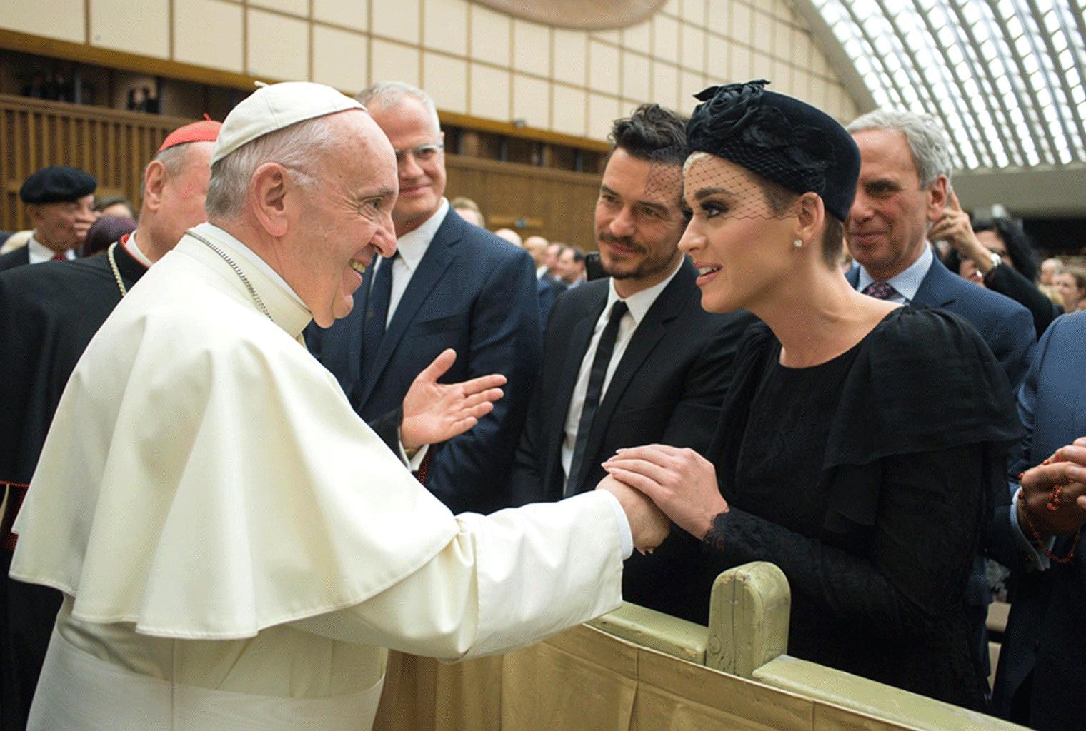 Katy Perry, Orlando Bloom, Pope Francis