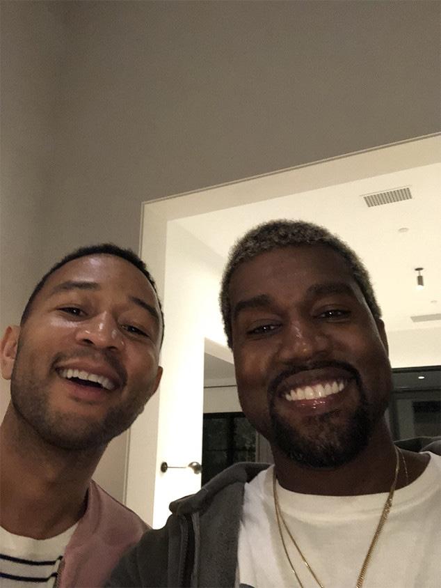 John Legend, Kanye West, Chrissy Teigen, Baby Shower