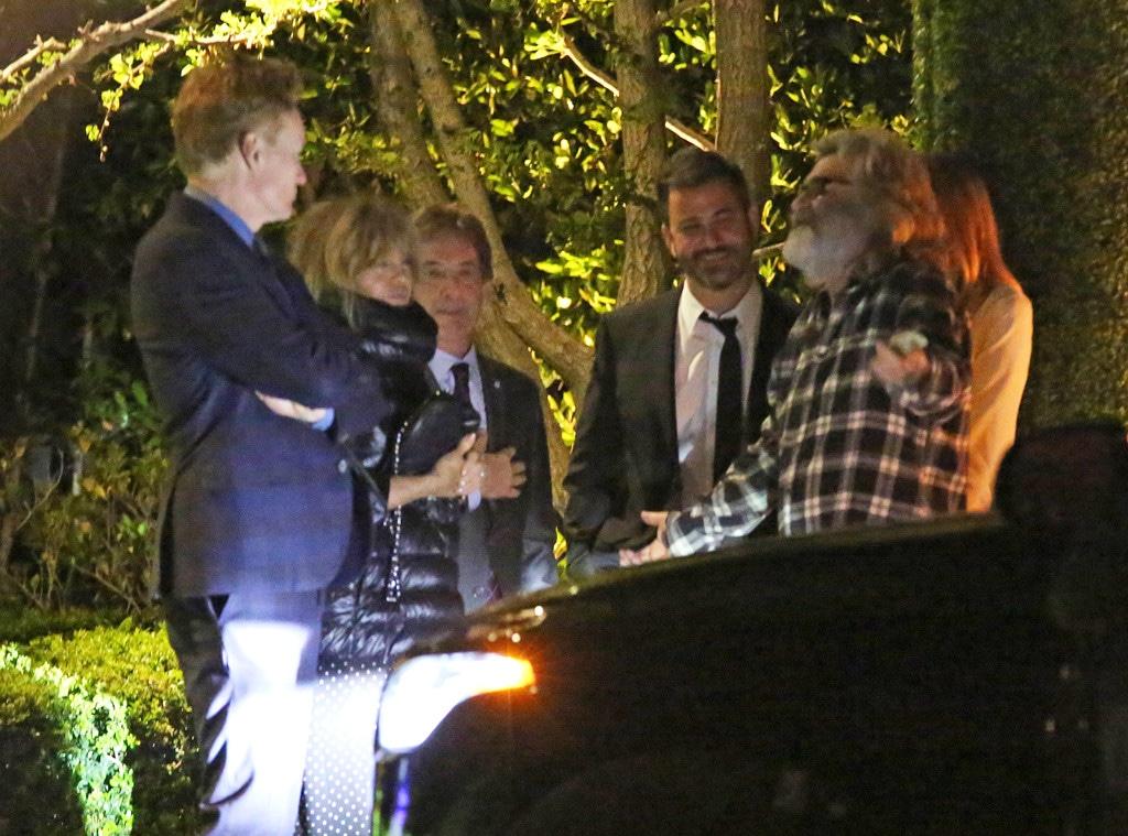 Kurt Russell, Goldie Hawn, Martin Short, Jimmy Kimmel, Conan O'Brien, Tom Hanks & Rita Wilson anniversary party