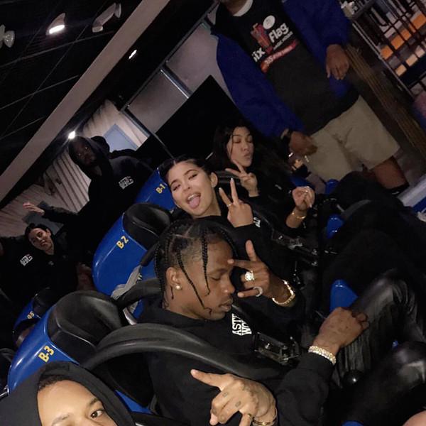 Kylie Jenner, Travis Scott, Six Flags