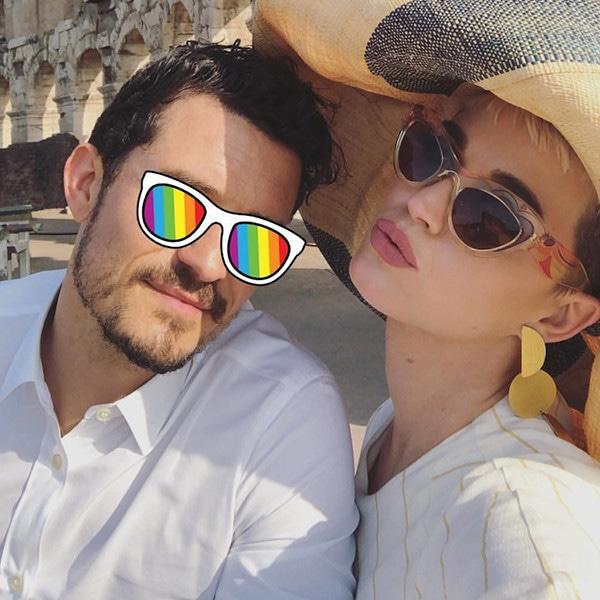 Katy Perry, Orlando Bloom, Colosseum, Rome