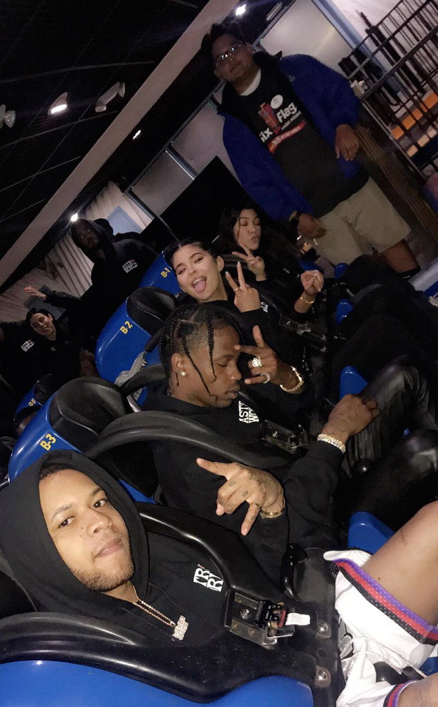 Kylie Jenner, Travis Scott, Six Flags