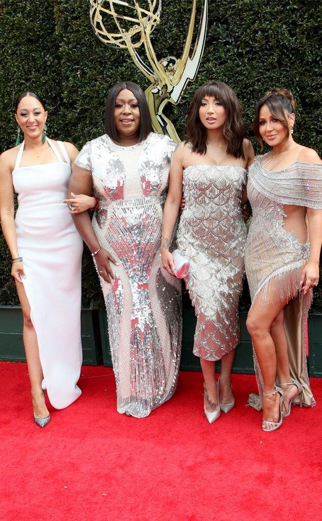 Tamera Mowry, Loni Love, Jeannie Mai, Adrienne Bailon, 2018 Daytime Emmy Awards