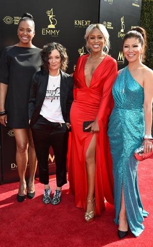 Aisha Tyler, Sara Gilbert, Eve, Julie Chen, 2018 Daytime Emmy Awards