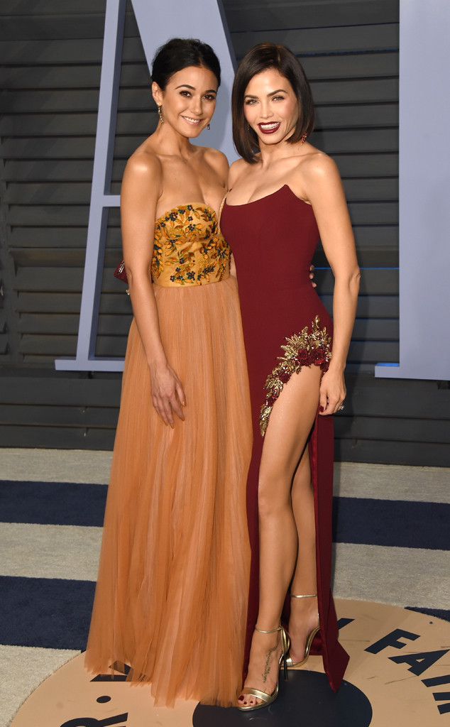 Jenna Dewan,  Emmanuelle Chriqui, Vanity Fair Oscar Party 2018