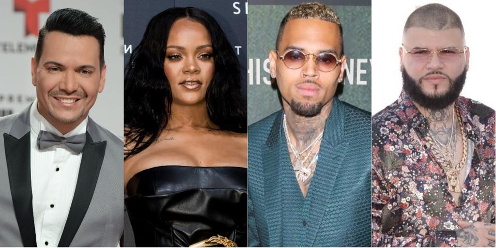 Victor Manuelle, Rihanna, Chris Brown, Farruko
