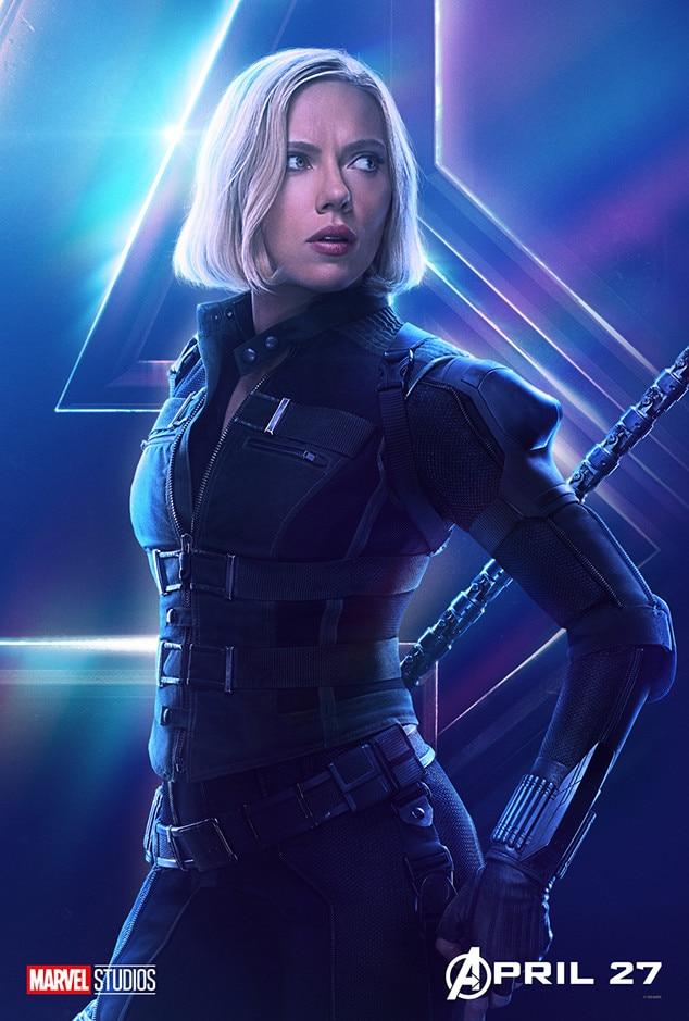 Scarlett Johansson As Black Widow Natasha Romanoff From