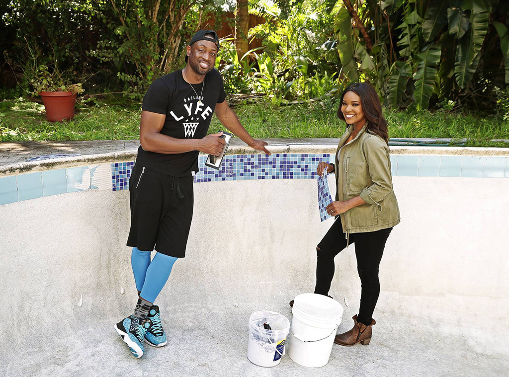 Dwayne Wade, Gabrielle Union, All-Star Flip