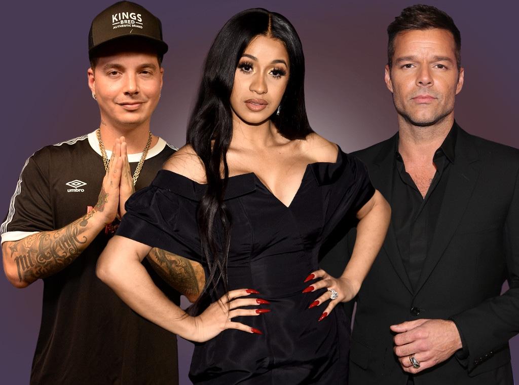J Balvin, Cardi B, Ricky Martin