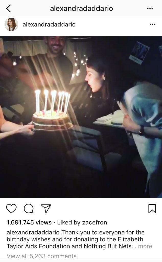 Zac Efron, Alexandra Daddario, Instagram