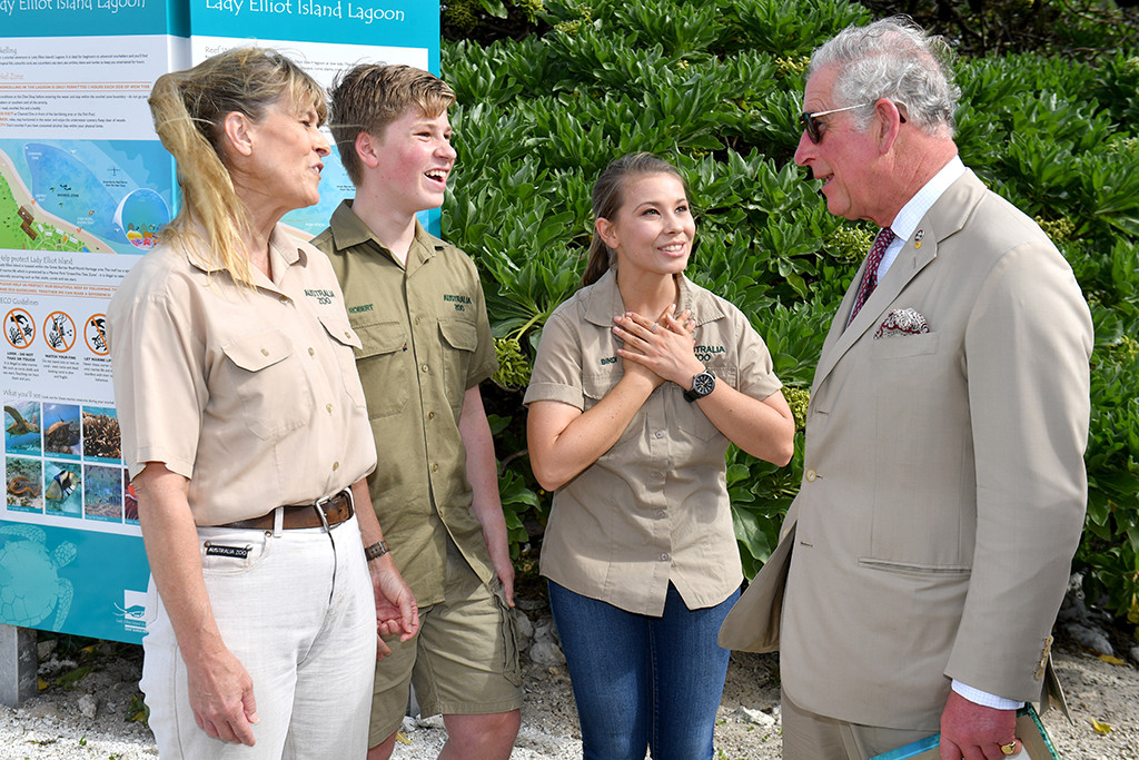 Terri Irwin, Bob Irwin, Bindi Irwin, Prince Charles