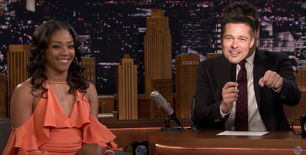 Tiffany Haddish, Jimmy Fallon, Brad Pitt, Tonight Show
