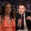 Tiffany Haddish, Jimmy Fallon, Brad Pitt, Tonight Show